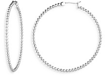Ralph Lauren Ralph Large Bead Hoop Earrings in Sterling Silver