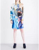 Moschino Printed chiffon shirt dress