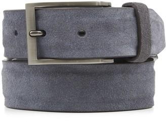 Tie Bar Solid Suede Grey Belt