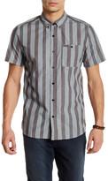 Volcom Carson Short Sleeve Stripe Modern Fit Shirt