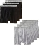 Fruit of the Loom Men's 7-Pack Black & Grey Boxer Briefs 100% Cotton Underwear, 2X-Large
