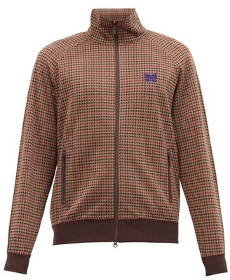 Needles Butterfly-embroidered Houndstooth Track Jacket - Brown