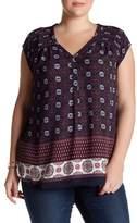 Daniel Rainn Pintuck Woven Blouse (Plus Size)