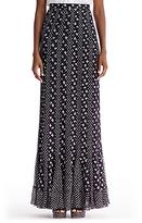Diane von Furstenberg Addyson Long Pleated Chiffon Maxi Skirt