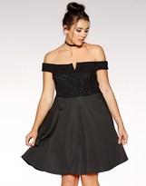 Quiz Curve Lace Skater Dress