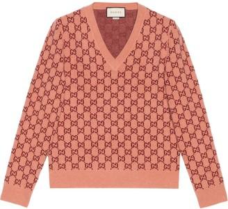 Gucci GG jacquard-knit jumper