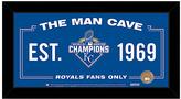 Kansas City Royals 2015 World Series Champions Man Cave Sign
