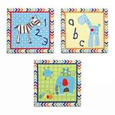 CoCalo Brooklyn Impression sur toile Art - Lot de 3