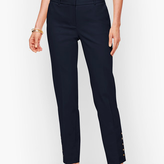 Talbots Hampshire Ankle Pants - Double Weave - Button Hem