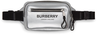 Burberry Silver Coated Canvas Bum Bag