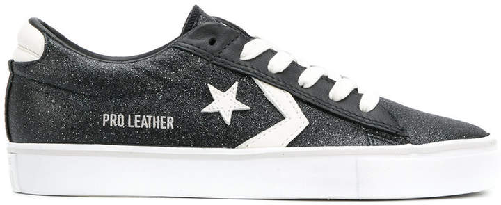 Converse Pro Leather glittered sneakers