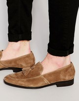 Dune Tassel Loafers Suede