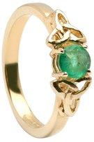 BORU Celtic Engagement Ring 14K & Emerald Irish Made Size 8