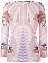 Givenchy 'Stargate' printed semi-sheer top - women - Viscose - 38