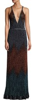 M Missoni Glitter Ombre Lurex Knit Maxi Dress