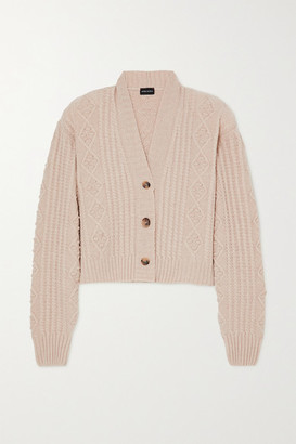 Magda Butrym Cable-knit Cashmere Cardigan - Beige