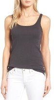 Eileen Fisher Petite Women's Scoop Neck Long Slim Organic Cotton Tank