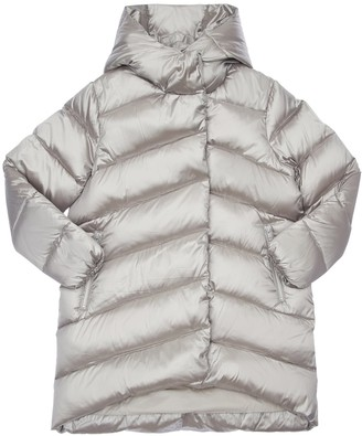 Bomboogie Hooded Metallic Nylon Down Coat
