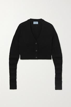 Prada Cropped Cashmere Cardigan - Black