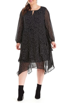 Estelle Pebble Print Long Sleeve Dress