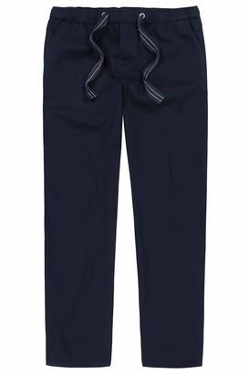 JP 1880 Men's Big & Tall Adjustable Drawstring Elastic Waist Pants Dark Navy XXXXXX-Large 720251 76-6XL