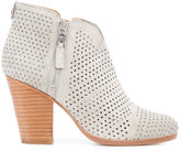 Rag & Bone perforated decoration ankle boots - women - Leather/Suede - 9.5