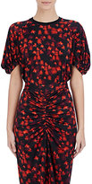 Givenchy Women's Floral Tech-Jersey Top-BLACK, RED, NO COLOR