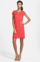 Taylor 5448M Floral Lace Cutout Dress