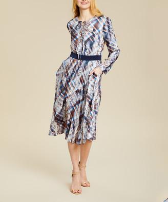 Ted Baker Women's Casual Dresses IVORY - Ivory Quartz Pleated Lilis Midi Dress - Women
