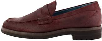 Perks Burgundy Waxed Penny Loafers