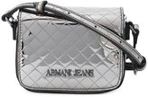 Armani Jeans quilted logo crossbody bag - women - Polyurethane - One Size