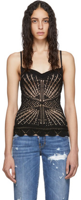 DSQUARED2 Black Knit Tank Top