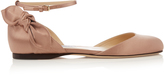 Jimmy Choo Kirsty bow-back satin ballet flats