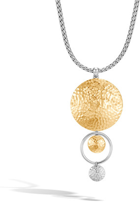 John Hardy Dot Two-Tone Hammered Pendant Necklace