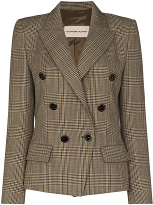 Alexandre Vauthier Double-Breasted Check-Pattern Jacket
