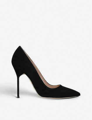 Manolo Blahnik BB 115 suede courts