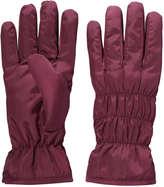 Joe Fresh Women's Ruched Winter Gloves, Burgundy (Size S/M)