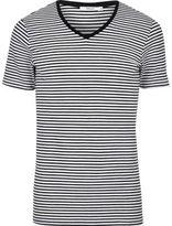 River Island Black Stripe Jack & Jones V-neck T-shirt