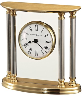Howard Miller New Orleans Classic, Vintage, Traditional, Accent Mantel Clock with Column Accents, Reloj del Estante