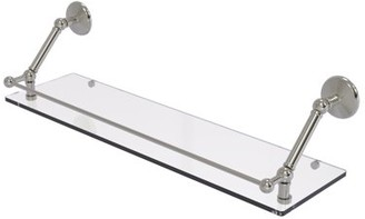 Allied Brass Prestige Monte Carlo 30 Inch Floating Glass Shelf with Gallery Rail