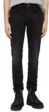 AllSaints Rex Slim Fit Jeans in Dark Grey
