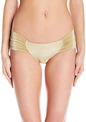 OndadeMar Women's Every Day Low Rise Bikini Ruched Fabric Bottom,S