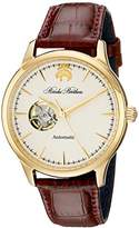 Brooks Brothers Men's SILGF002 Core Collection - Open Heart Analog Display Automatic Self Wind Brown Watch
