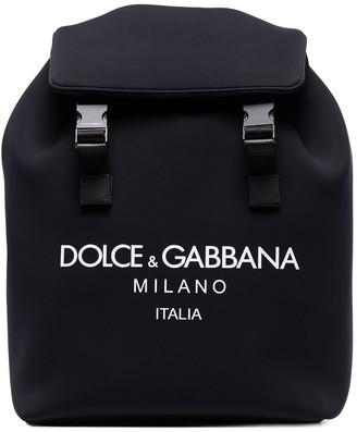 Dolce & Gabbana Palermo logo print neoprene backpack