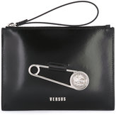 Versus safety pin clutch - women - Cotton/Calf Leather - One Size