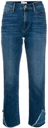 Frame Distressed-Ankle Jeans