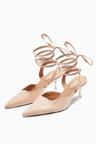 Topshop JENA Transparent Ankle Tie Court Heels