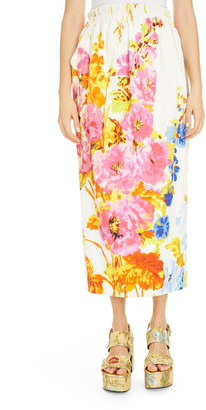 Dries Van Noten Sofya Floral Skirt