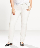 Levi's Soft Clean White 414TM Classic Straight Leg Jeans - Plus