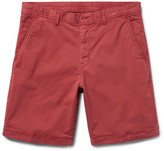 Michael Kors - Slim-fit Garment-dyed Stretch-cotton Twill Shorts